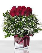 Bingöl Gölüm Çiçek çiçek , çiçekçi , çiçekçilik  11 adet gül mika yada cam - anneler günü seçimi -