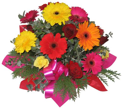 Karisik mevsim çiçeklerinden buket  Bingöl Gölüm Çiçek hediye sevgilime hediye çiçek