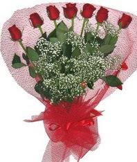 7 adet kipkirmizi gülden görsel buket  Bingöl Gölüm Çiçek çiçek mağazası , çiçekçi adresleri