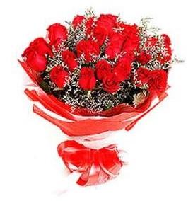 Bingöl Gölüm Çiçek çiçek mağazası , çiçekçi adresleri  12 adet kırmızı güllerden görsel buket