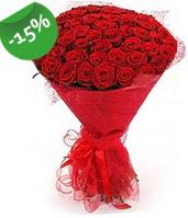 51 adet kırmızı gül buketi özel hissedenlere  Bingöl Gölüm Çiçek çiçek siparişi sitesi