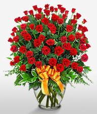 Görsel vazo içerisinde 101 adet gül  Bingöl Gölüm Çiçek cicek , cicekci