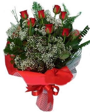 7 kırmızı gül buketi  Bingöl Gölüm Çiçek çiçek servisi , çiçekçi adresleri