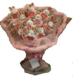 12 adet tavşan buketi  Bingöl Gölüm Çiçek çiçek mağazası , çiçekçi adresleri