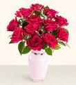 Bingöl Gölüm Çiçek hediye çiçek yolla  10 kirmizi gül cam yada mika vazo tanzim