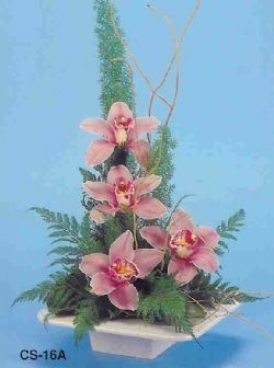 Bingöl Gölüm Çiçek çiçekçi telefonları  vazoda 4 adet orkide