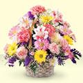 Bingöl Gölüm Çiçek uluslararası çiçek gönderme  sepet içerisinde gül ve mevsim
