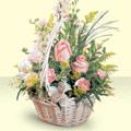 Bingöl Gölüm Çiçek 14 şubat sevgililer günü çiçek  sepette pembe güller