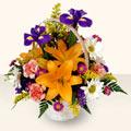 Bingöl Gölüm Çiçek 14 şubat sevgililer günü çiçek  sepet içinde karisik çiçekler