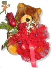 oyuncak ayi ve gül tanzim  Bingöl Gölüm Çiçek çiçekçiler