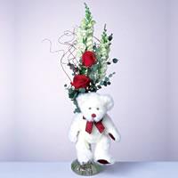 2 adet gül ve panda özel  Bingöl Gölüm Çiçek çiçekçi mağazası