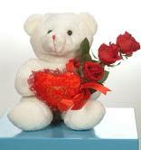 3 adetgül ve oyuncak   Bingöl Gölüm Çiçek online çiçekçi , çiçek siparişi