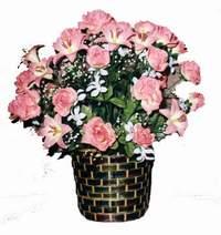 yapay karisik çiçek sepeti  Bingöl Gölüm Çiçek çiçek online çiçek siparişi