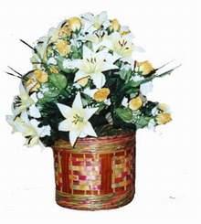 yapay karisik çiçek sepeti   Bingöl Gölüm Çiçek cicekciler , cicek siparisi