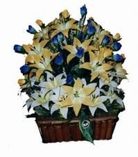 yapay karisik çiçek sepeti   Bingöl Gölüm Çiçek çiçek gönderme