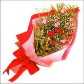 12 adet renkli  gül buketi   Bingöl Gölüm Çiçek çiçekçi mağazası