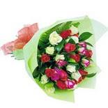12 adet renkli gül buketi   Bingöl Gölüm Çiçek çiçek gönderme sitemiz güvenlidir