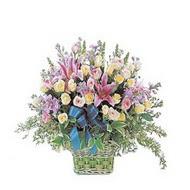 sepette kazablanka ve güller   Bingöl Gölüm Çiçek çiçek gönderme