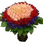 71 adet renkli gül buketi   Bingöl Gölüm Çiçek ucuz çiçek gönder