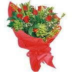 10 adet kirmizi gül buketi  Bingöl Gölüm Çiçek çiçek yolla