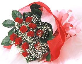 12 adet kirmizi gül buketi  Bingöl Gölüm Çiçek cicek , cicekci