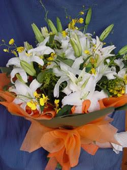 Bingöl Gölüm Çiçek internetten çiçek satışı  5 ADET KAZABLANKA BUKETI KALITEDEN SASMAYANLARA