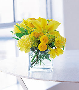 Bingöl Gölüm Çiçek ucuz çiçek gönder  sarinin sihri cam içinde görsel sade çiçekler