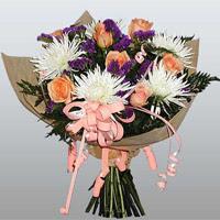 güller ve kir çiçekleri demeti   Bingöl Gölüm Çiçek çiçekçiler