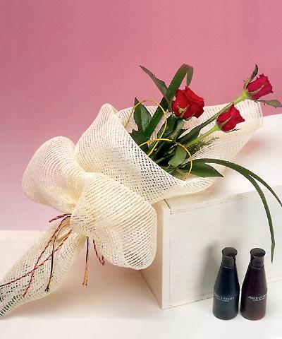 3 adet kalite gül sade ve sik halde bir tanzim  Bingöl Gölüm Çiçek internetten çiçek siparişi