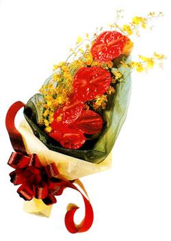 özel 5 adet antorium buketi   Bingöl Gölüm Çiçek çiçek gönderme sitemiz güvenlidir