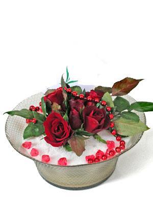 Bingöl Gölüm Çiçek çiçek siparişi vermek  EN ÇOK Sevenlere 7 adet kirmizi gül mika yada cam tanzim