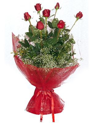 Bingöl Gölüm Çiçek çiçek servisi , çiçekçi adresleri  7 adet gülden buket görsel sik sadelik