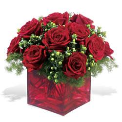 Bingöl Gölüm Çiçek çiçek yolla  9 adet kirmizi gül cam yada mika vazoda