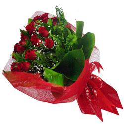 Bingöl Gölüm Çiçek kaliteli taze ve ucuz çiçekler  12 adet kirmizi essiz gül buketi - SEVENE ÖZEL