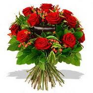 9 adet kirmizi gül ve kir çiçekleri  Bingöl Gölüm Çiçek internetten çiçek satışı