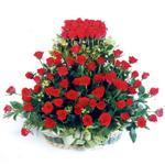Bingöl Gölüm Çiçek kaliteli taze ve ucuz çiçekler  41 adet kirmizi gülden sepet tanzimi