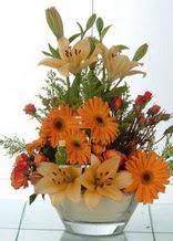 Bingöl Gölüm Çiçek çiçek servisi , çiçekçi adresleri  cam yada mika vazo içinde karisik mevsim çiçekleri