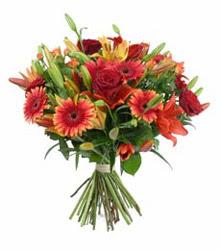 Bingöl Gölüm Çiçek çiçek gönderme  3 adet kirmizi gül ve karisik kir çiçekleri demeti
