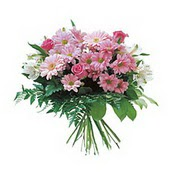 karisik kir çiçek demeti  Bingöl Gölüm Çiçek çiçek satışı