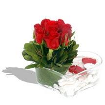 Mika kalp içerisinde 9 adet kirmizi gül  Bingöl Gölüm Çiçek çiçek servisi , çiçekçi adresleri