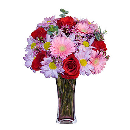 Görsel hediye karisik cam mevsim demeti  Bingöl Gölüm Çiçek çiçekçi mağazası