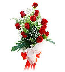 11 adet kirmizi güllerden görsel sölen buket  Bingöl Gölüm Çiçek çiçek siparişi vermek