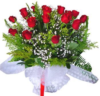 11 adet gösterisli kirmizi gül buketi  Bingöl Gölüm Çiçek internetten çiçek satışı