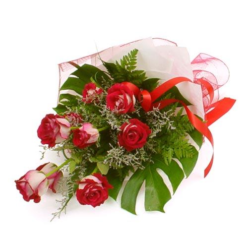 çiçek gönder 7 adet kirmizi gül buketi  Bingöl Gölüm Çiçek kaliteli taze ve ucuz çiçekler