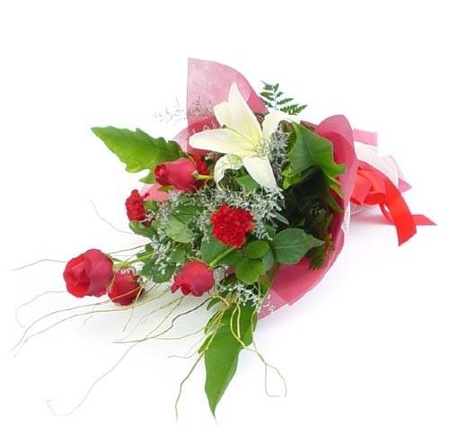 Mevsim çiçeklerinden karisik buket  Bingöl Gölüm Çiçek cicek , cicekci