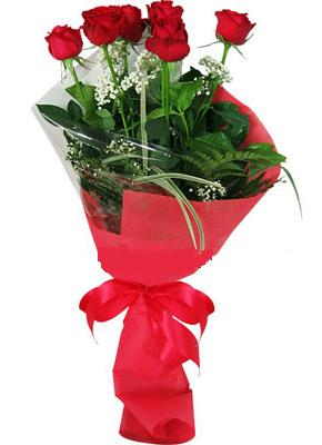 7 adet kirmizi gül buketi  Bingöl Gölüm Çiçek çiçek yolla , çiçek gönder , çiçekçi