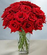Bingöl Gölüm Çiçek çiçekçi mağazası  cam vazoda 11 kirmizi gül  Bingöl Gölüm Çiçek hediye sevgilime hediye çiçek