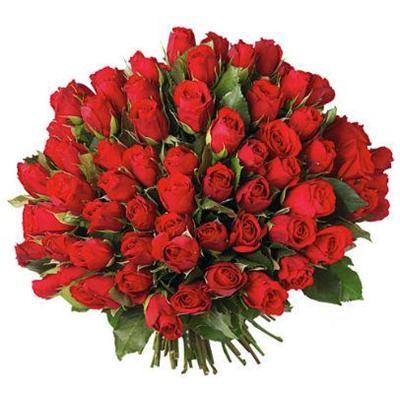 101 adet kirmizi güllerden buket tanzimi