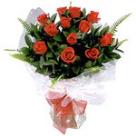 Bingöl Gölüm Çiçek çiçek , çiçekçi , çiçekçilik  9 adet güzel bir gül buketi