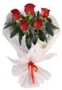 5 adet kirmizi gül buketi  Bingöl Gölüm Çiçek çiçekçiler